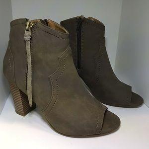 XoXo Barrymore Open toe booties